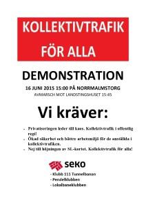 demonstration 16 juni