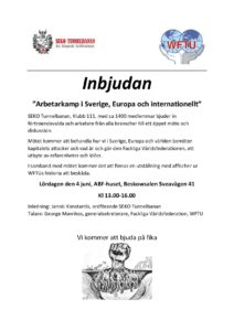 Inbjudan 4 juni WFTU